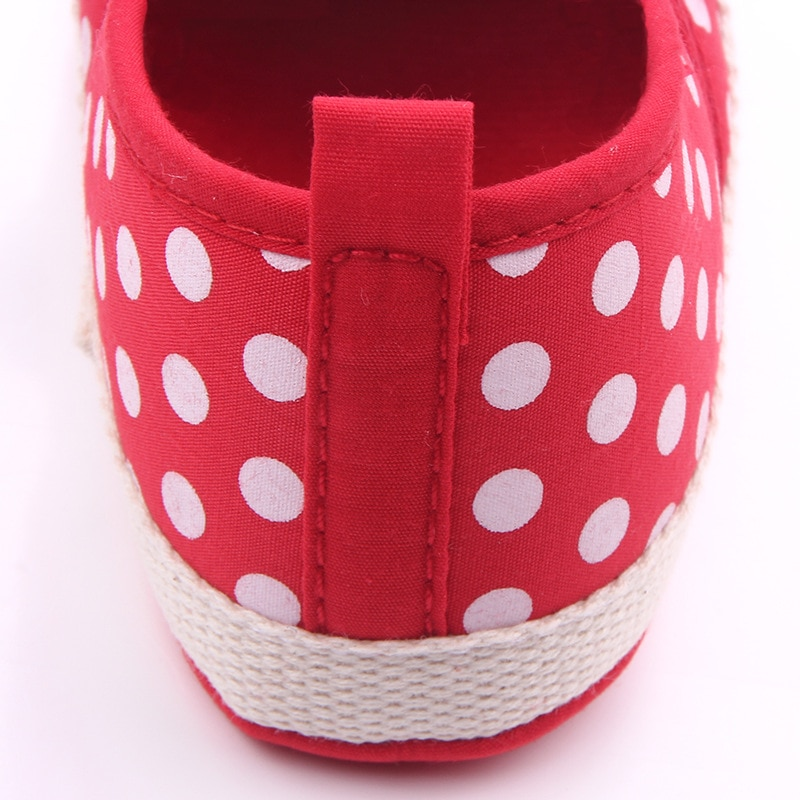 Disney Cute Minnie Baby Girl Shoes Newborn Spring Summer Girl Baby Princess Shoes Bowknot Polka Dot Flower Soft-Soled Crib Shoes