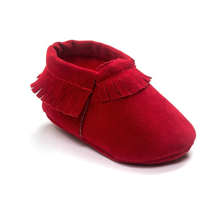 Hot PU Suede Leather Newborn Baby Boy Girl Baby Moccasins Soft Moccs Shoes Bebe Fringe Soft Soled Non-slip Footwear Crib Shoe