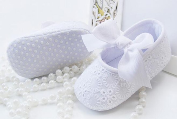 baby girls shoes white with bowtie infant shoes prewalkers little girls crib shoes nonslip christenning wedding spring summer