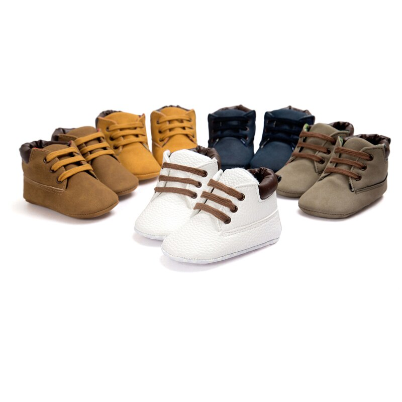 2020 Spring / Autumn Infant Baby Boy Soft Sole PU Leather First Walkers Crib Shoes 0-18 Months