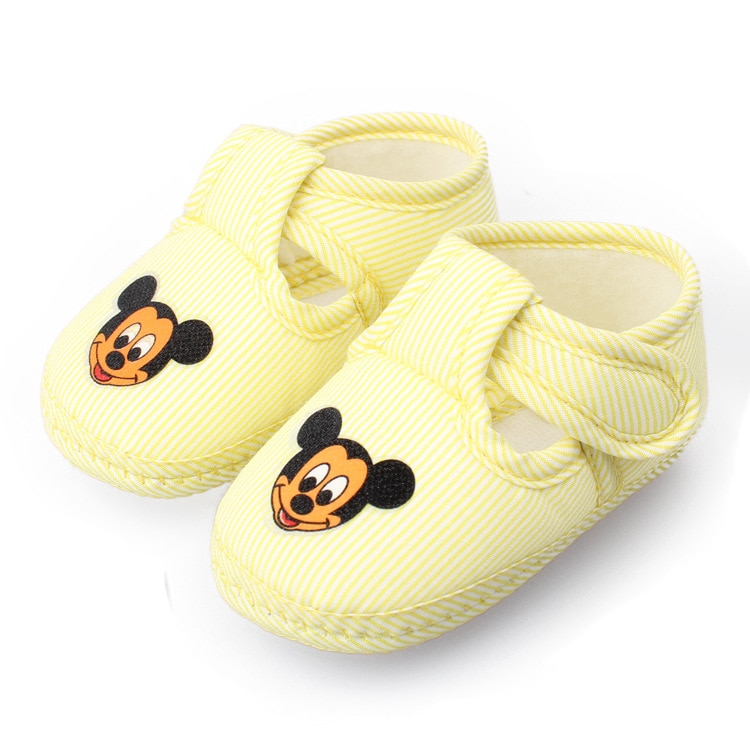 2019 New Disney spring and autumn anti-skid Baby Toddler Shoes Cartoon Mickey Baby Shoes