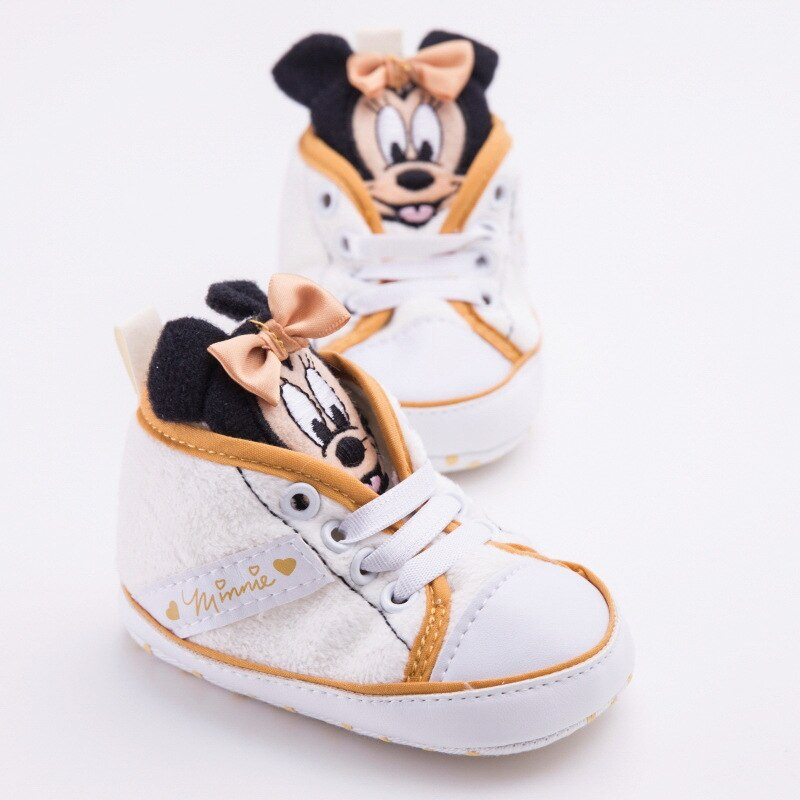 Disney baby Girls Princess Shoes cute Cartoon Minnie pink  children Mickey  newborn soft Toddler Shoes