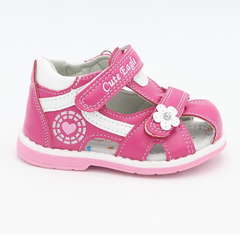 Cute Eagle Summer Girls Sandals Pu Leather Toddler Kids Orthopedic Sandals Girls Closed Toe Baby Flat Shoes Eur 20-30 New 2020