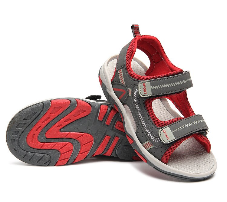 2019 Summer Kids Shoes Brand Closed Toe Toddler Boys Sandals Orthopedic Sport PU Leather Baby Boys Sandals Shoes