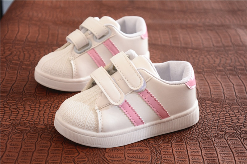Children Shoes Girls Boys Sneakers Shoes Antislip Soft Bottom Comfortable Kids Sneaker Toddler Casual Flat Sports white Shoes