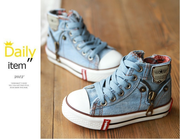 2020 Canvas Children Shoes Sport Breathable Boys Sneakers Brand Kids Shoes for Girls Jeans Denim Casual Child Flat Boots 25-37