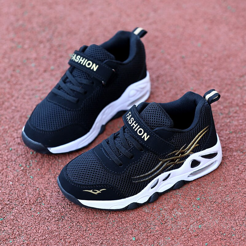 SKHEK Children Sport Shoes Leather Boys Girls children good quality casual shoes Sneakers black Red color Comfortable Kids Shoes