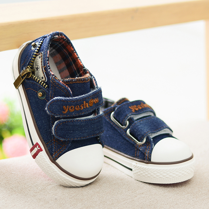 Kids Shoes for Girls Boys Sneakers Jeans Canvas Children Shoes Denim Running Sport Baby Sneakers Boys Shoes size21-37