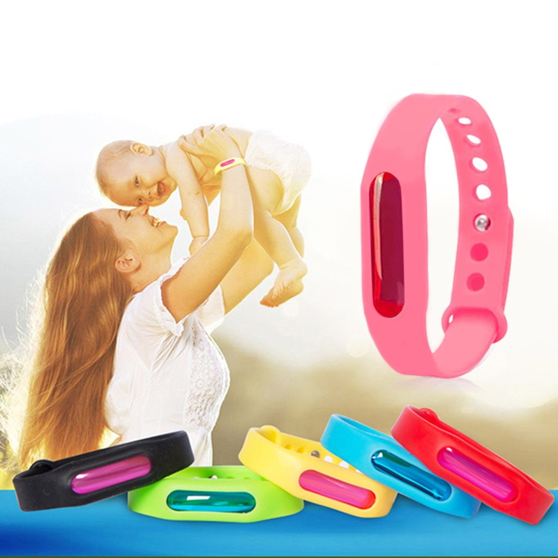 Hot Kids Skin Protection Mosquito Repellent Bracelet Summer Baby Care Anti-mosquito Bug Wristband For Adult Outdoor Camping
