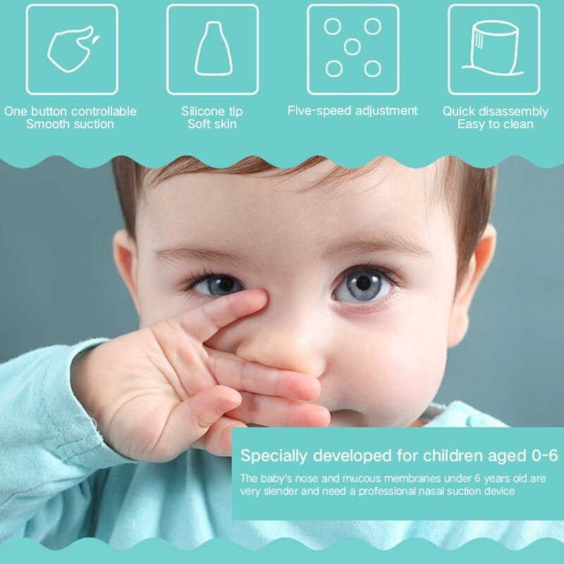 Baby Nasal Aspirator Electric Hygienic Nose Cleaner Baby Care Nose Snot Cleaner Tip Oral Snot Sucker For Newborn Infant Toddler