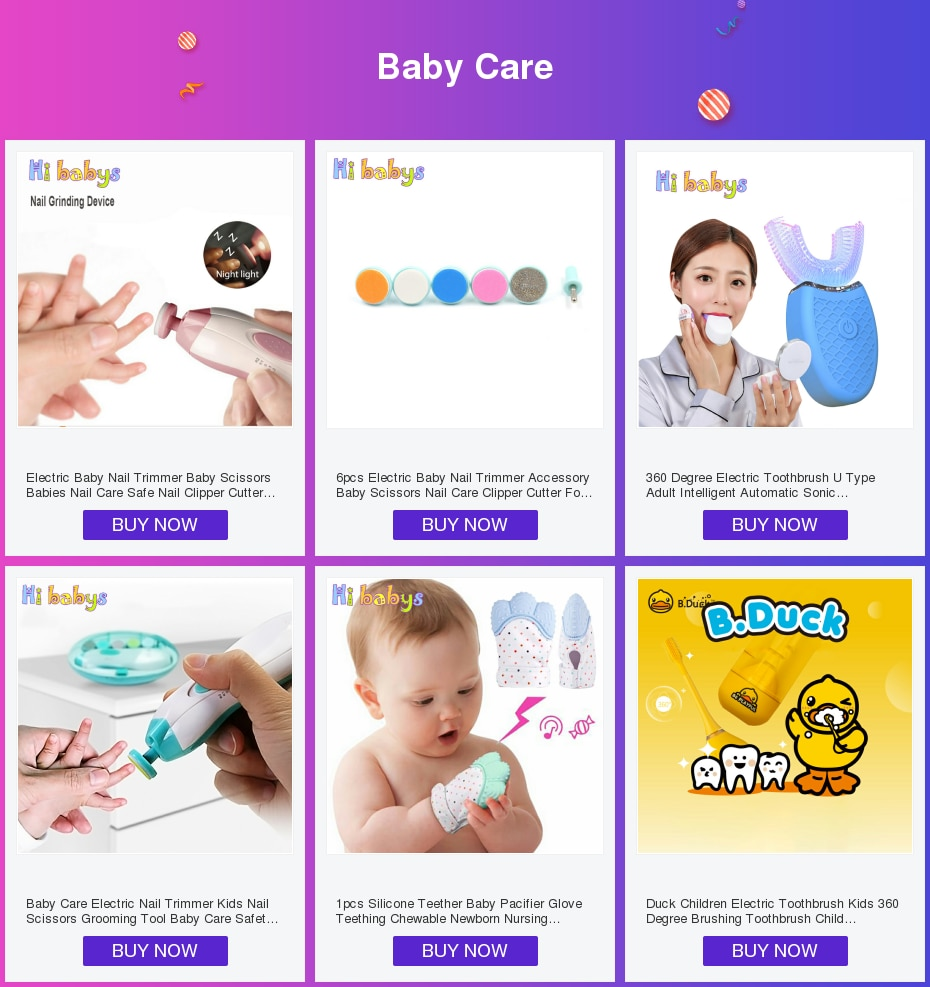 5pcs Baby Grooming Practical Clipper Trimmer Convenient Daily Baby Hair Brush baby Care Kits clipper scissor kid toiletries