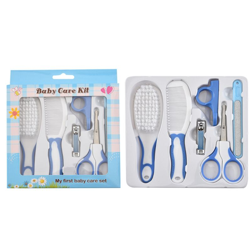 6 Pcs Baby Nail Hair Daily Care Kit Newborn Kids Grooming Brush and Manicure Set C6UF