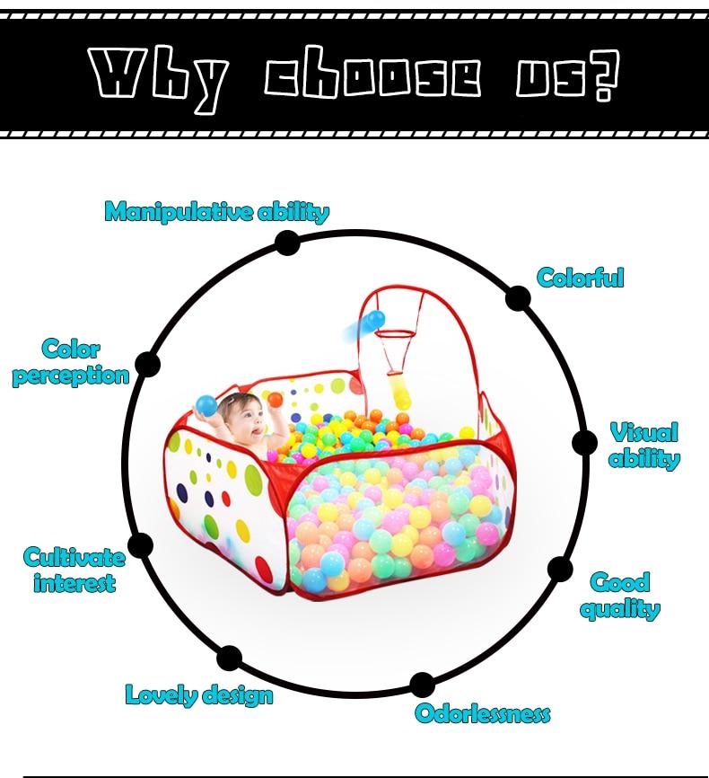 Ocean Ball Pit Baby Playpen Children Toy Tent Ball Pool with Basket Outdoor Toys for Children Ballenbak