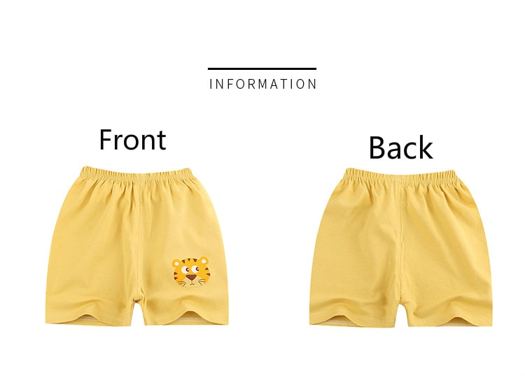 Unini-yun Summer thin children wear shorts Boy baby and girl pants Solid color cotton 1-6 year old children's leisure pants