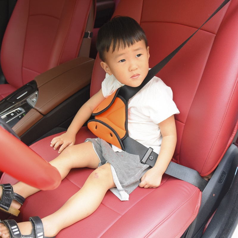 Car Seat Safety Belt Cover Sturdy Adjustable Triangle Safety Seat Belt Pad Clips Baby Child Protection Car-Styling Car Goods