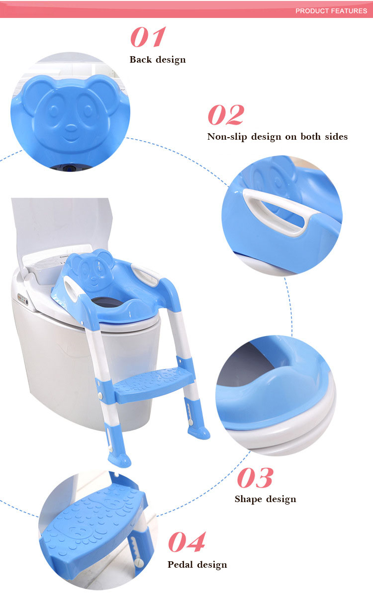 2 Colors Folding Baby Potty Infant Kids Toilet Training Seat with Adjustable Ladder Portable Urinal Potty Training Seat Children