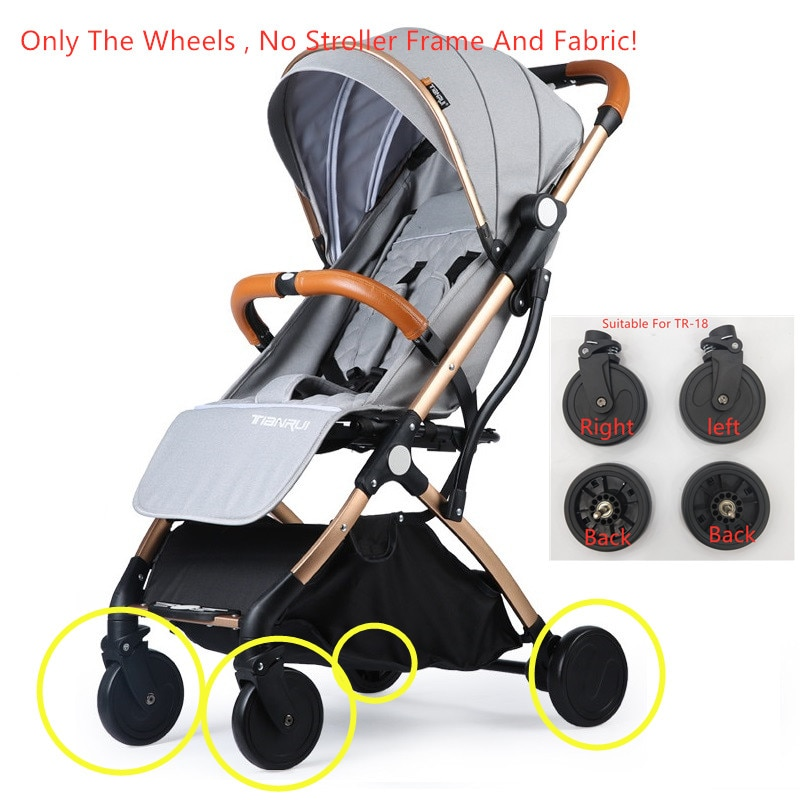 Baby Stroller Wheels Pu Rubber Wheel For TR-18 TIANRUI Stroller Accessories Whole Set Wheels Replacement