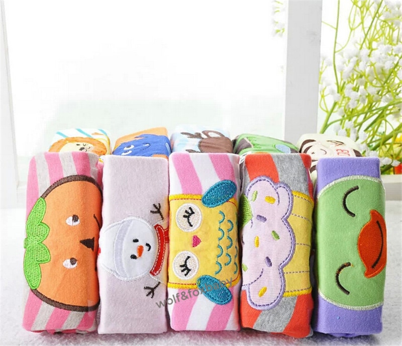 Retail 5pcs/pack 0-2years PP pants trousers Baby Infant cartoonfor boys girls Clothing