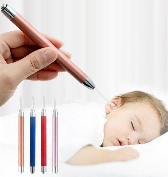 Baby Ear Cleaner Set LED Light Earpick Earwax Remover Ear Cleaning Ear Wax Removal Ear Spoon Curette Ear Care Tools