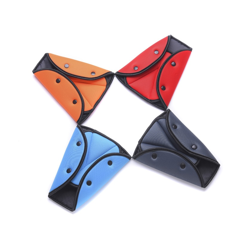 EAFC Car Safety Belt Cover Sturdy Adjustable Triangle Safety Seat Belt Pad Clips Baby Child Protection Car-Styling Car Goods