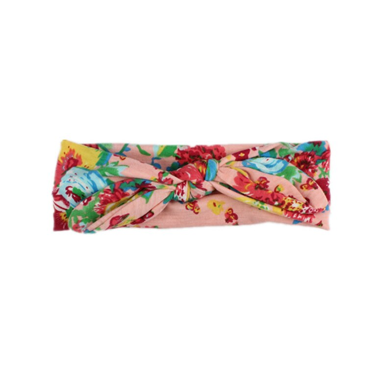 BABY Lovely Bowknot Elastic Head Bands For Baby Girls Headband For Children Tuban Baby Baby Accessories Floral Hair haarband