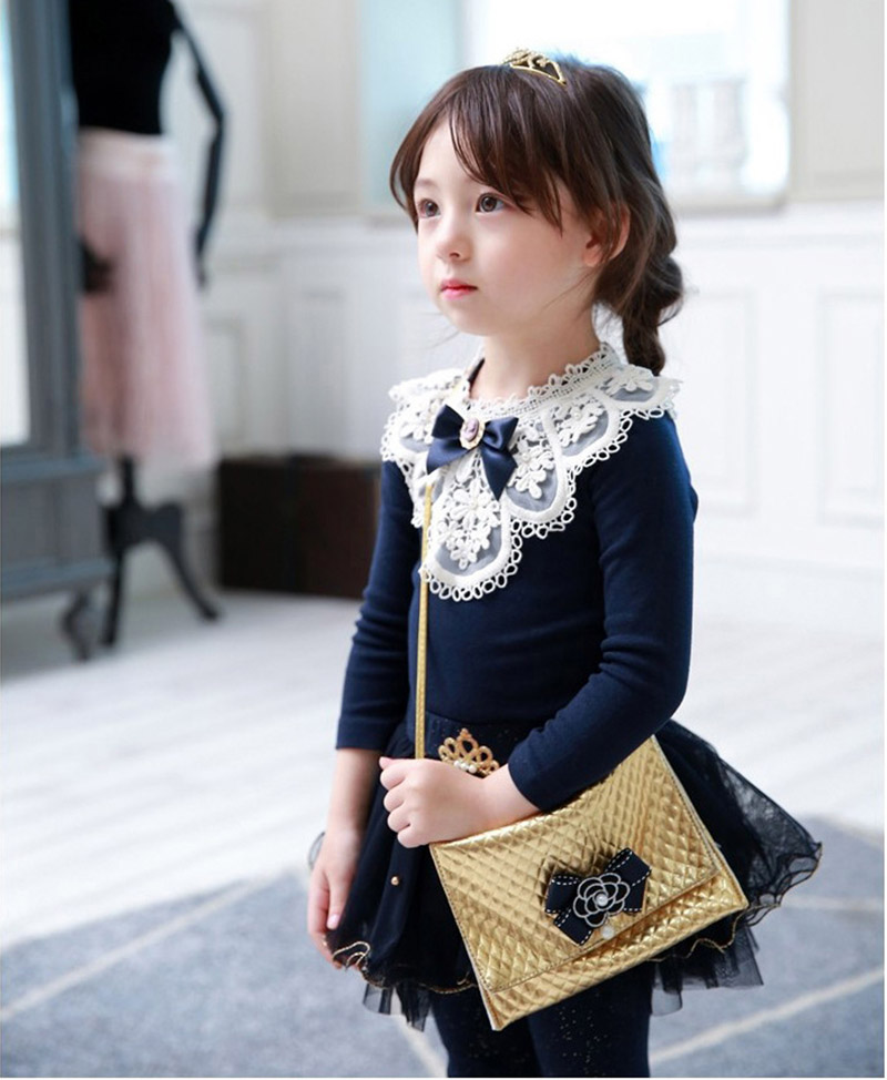 Girls Blouses 2018 Spring Baby Girl Clothes Children Clothing School Girl Blouse Cotton Child Lace Shirt Blusas Kids Clothes
