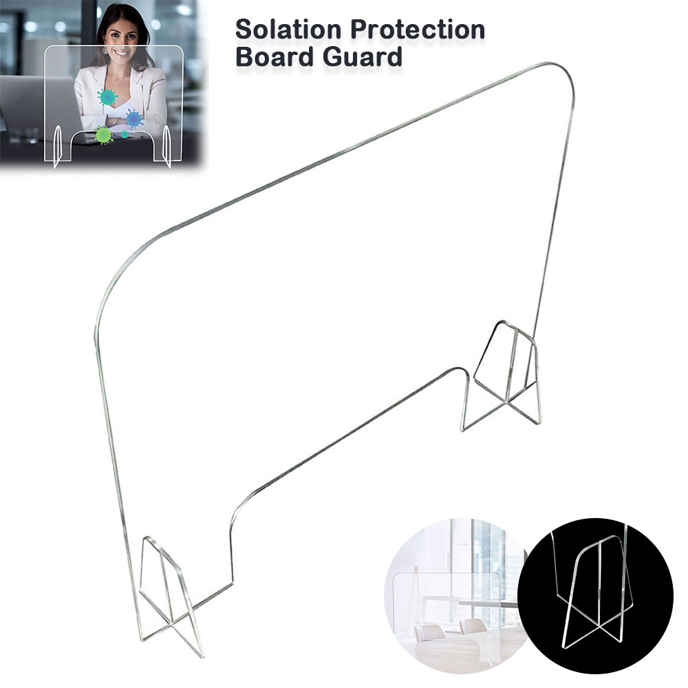 Acrylic Sneeze Guard Shield Clear Perfection Reception Side Sale Safety Counter Transparent Height Protection Screen 40*40CM