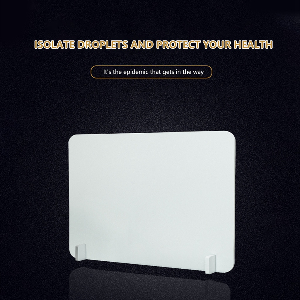 Protective Shield For Office Work Sprayed UV Cut Transparent Height Clear Perfection Reception Side Sale Counter Protection#Y20