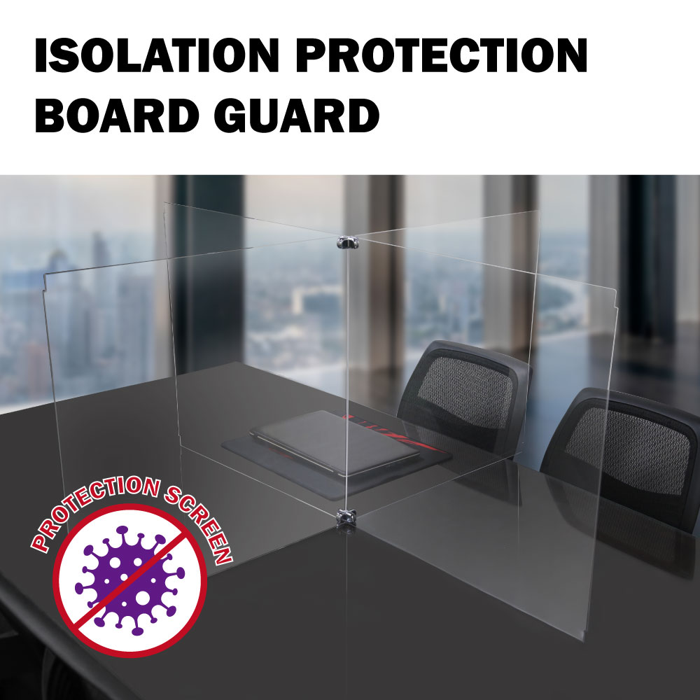 Acrylic Sneeze Guard Shield Clear Perfection For 4 person School, Classroom, Counter, Office, Restaurant Desk Protective Screen