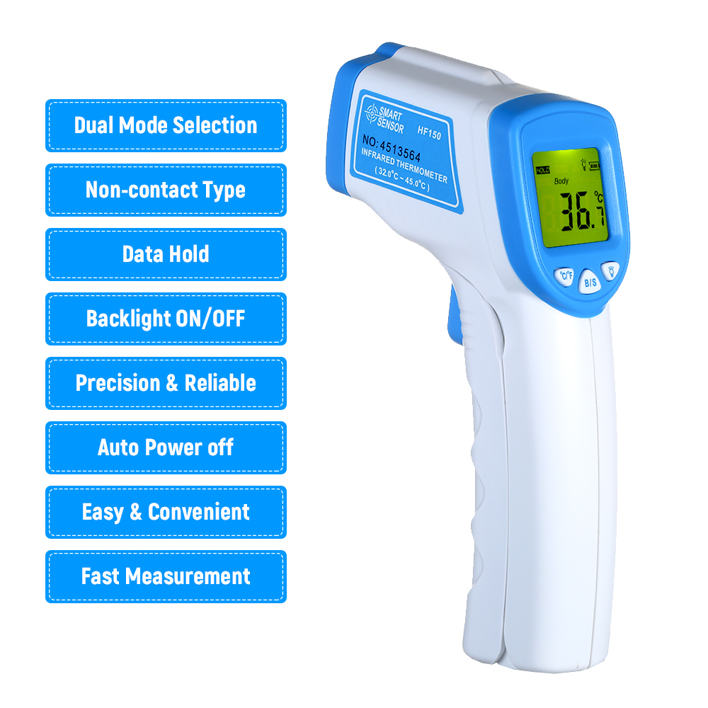 Non-contact IR Infrared Thermometer Digital LCD Thermometer Laser Body Temperature Gauge Handheld Temperature Meter hygrometer