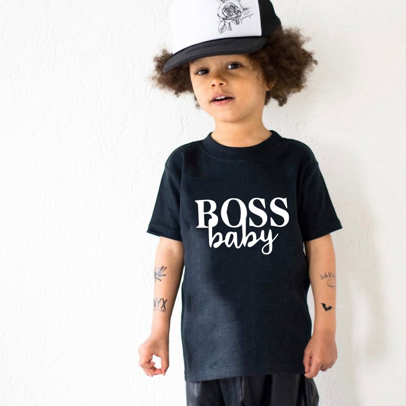 Boss baby and boss lady print family matching clothes mother daughter son outfits mommy and me women mom girl boys t shirt