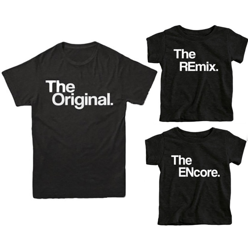 Father Son Boys Kids T Shirts Family Matching Outfits Letter Family Look Matching Clothes Short Sleeve Tops Family Costumes