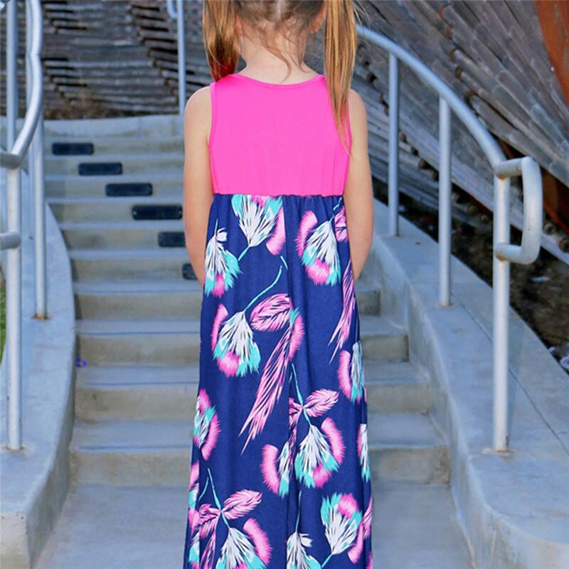 Mother Daughter Vest Dress Family Look Mommy and Me Clothes Matching Outfits Mom Mama Mum Daughter Dresses Clothing C0360