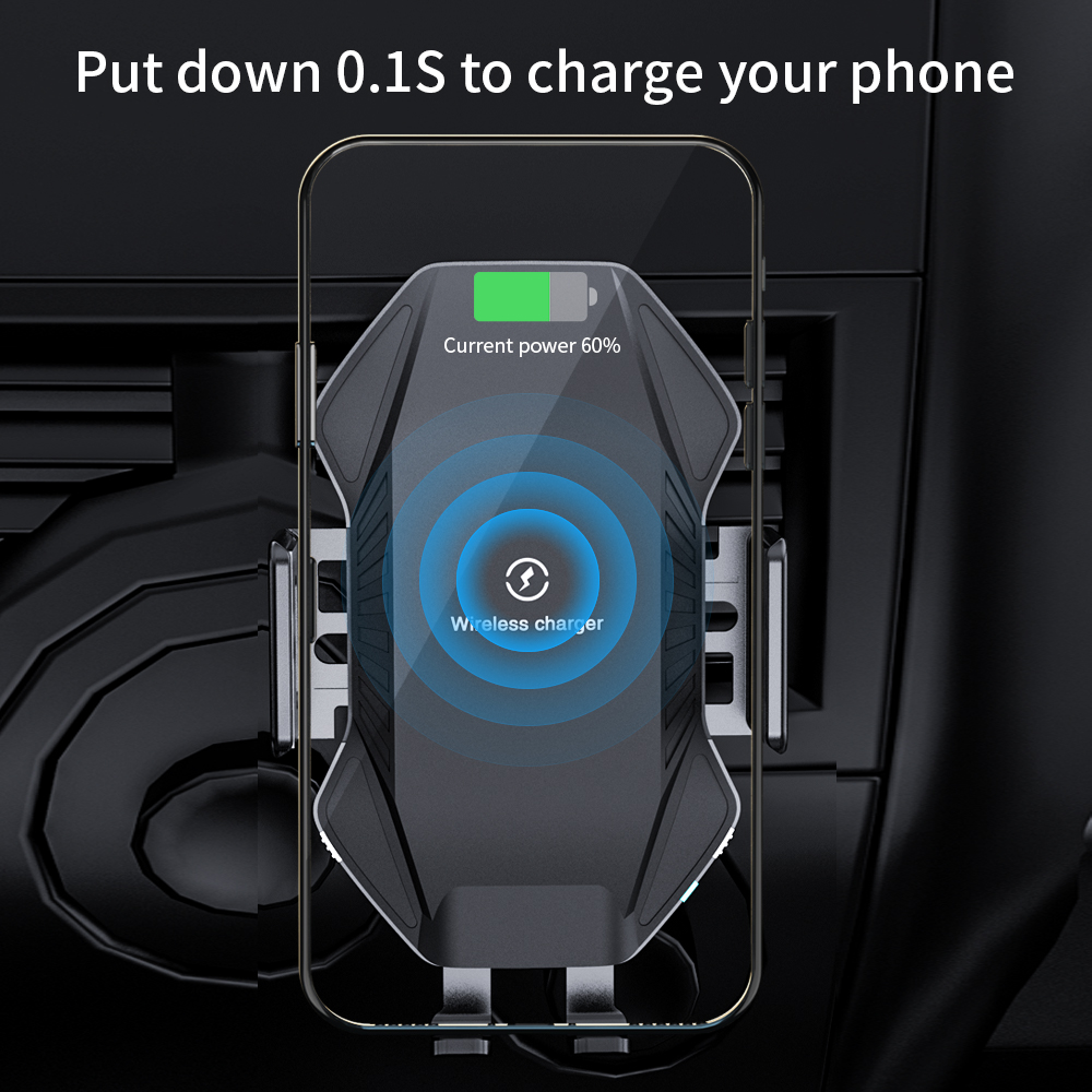 NTONPOWER Qi Wireless Car Charger 10W Fast Charging for iPhone 11 XS X 8 Intelligent Infrared Car Wireless Charger Phone Holder
