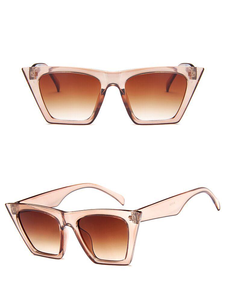 Women's Trapezoid Shaped Sunglasses