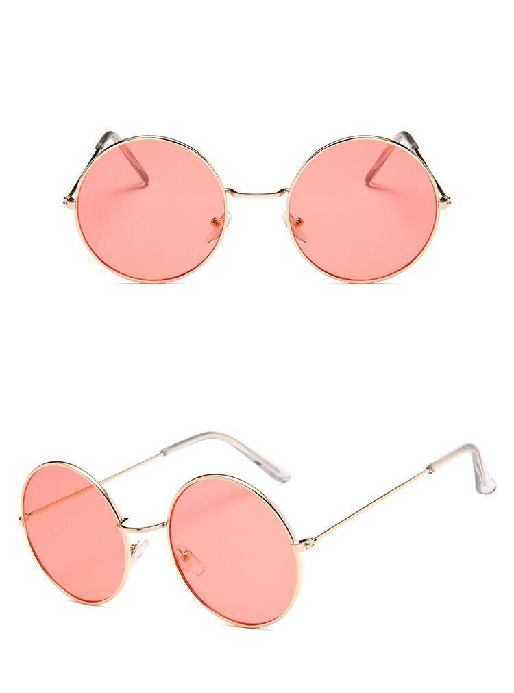 Women's Retro Mirror Round Sunglasses