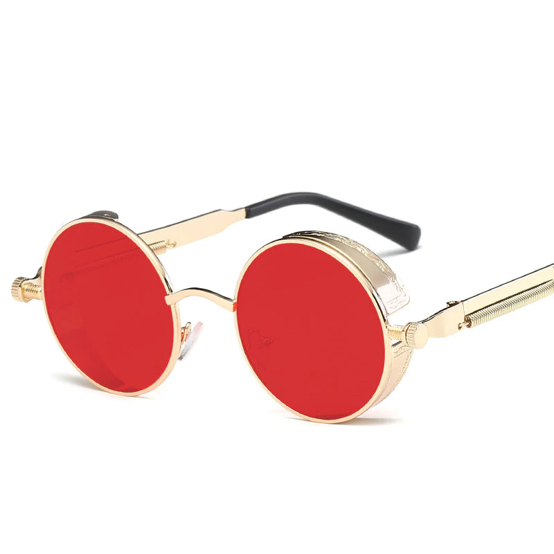Metal Men's Sunglasses in Round Shape