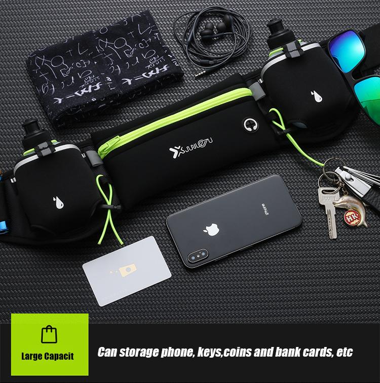 Marathon Dual Pocket Running Belt Trail Running Waist Bag For Phone Sports Fanny Pack Man/Woman Fitness Waist Pack Water Bottle