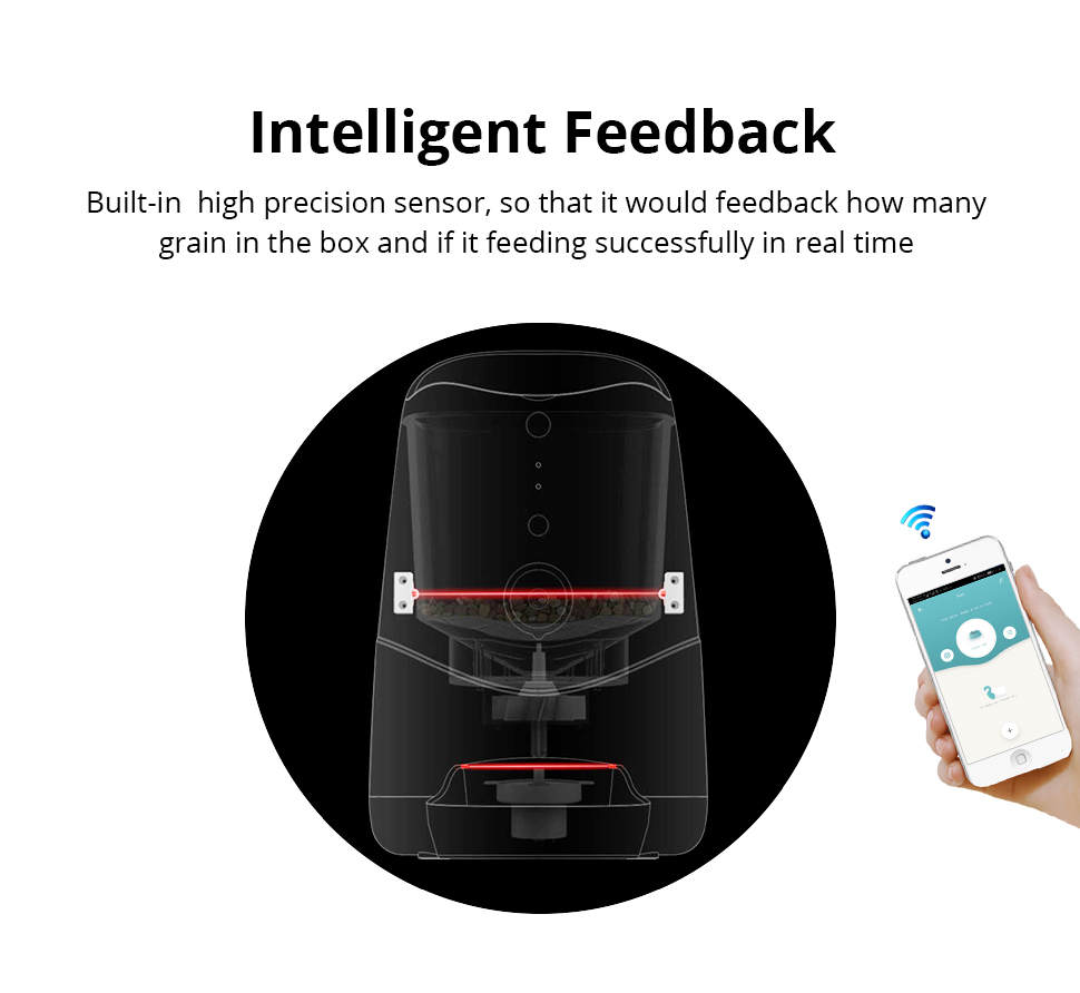 Zemismart Wifi Connect Cell Phone APP Remote Operate Auto Dog Cat Feeder Smart Pet Feeder