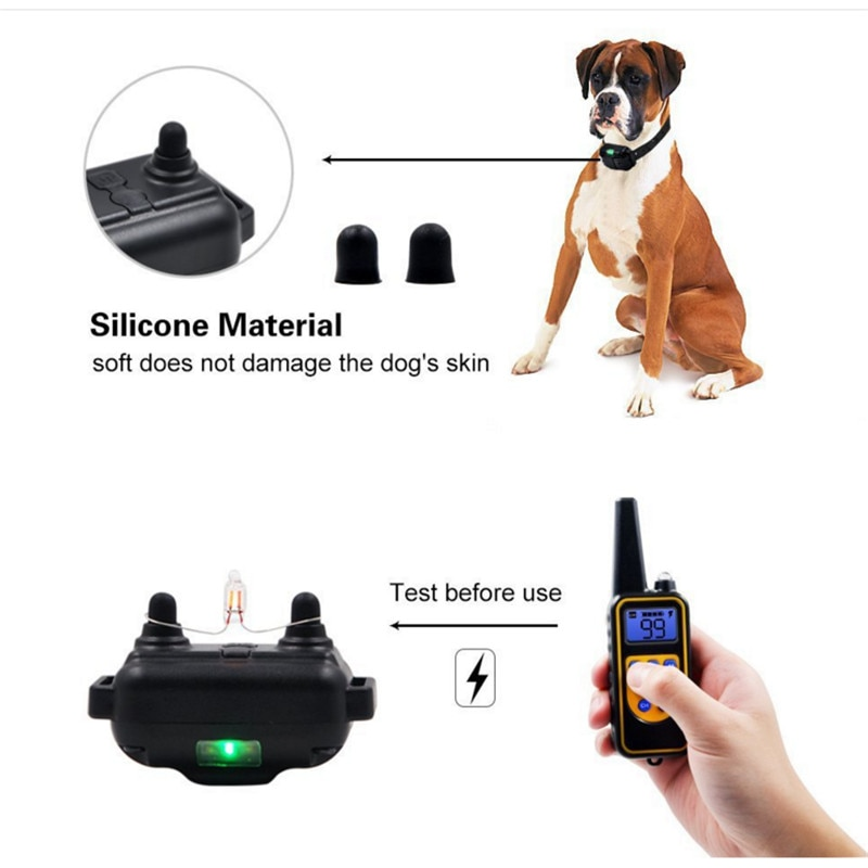 Electric Dog Training Collar Waterproof Rechargeable Remote Control