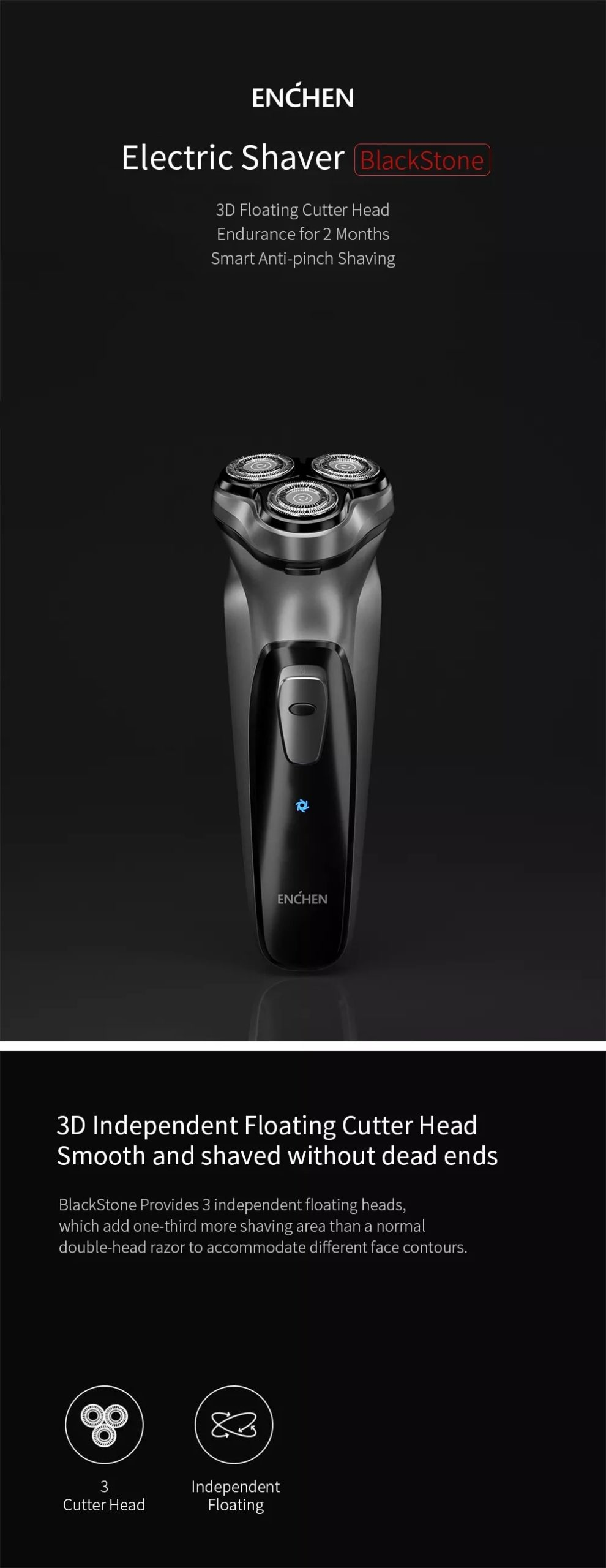 Xiaomi Enchen Men Electric Shaver Type-c Usb Rechargeable Razor