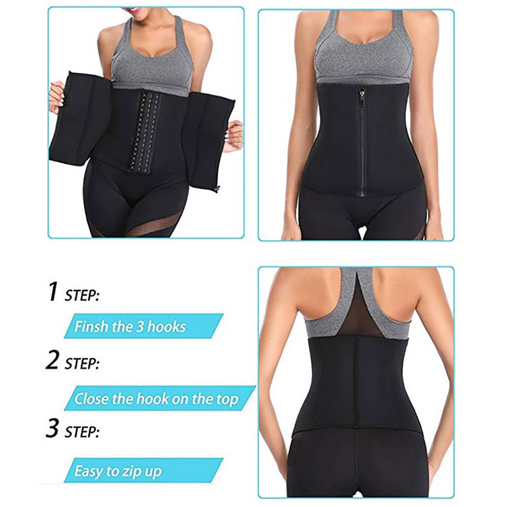 Neoprene Waist Trainer Belt Abdominal Trimmer Shaper