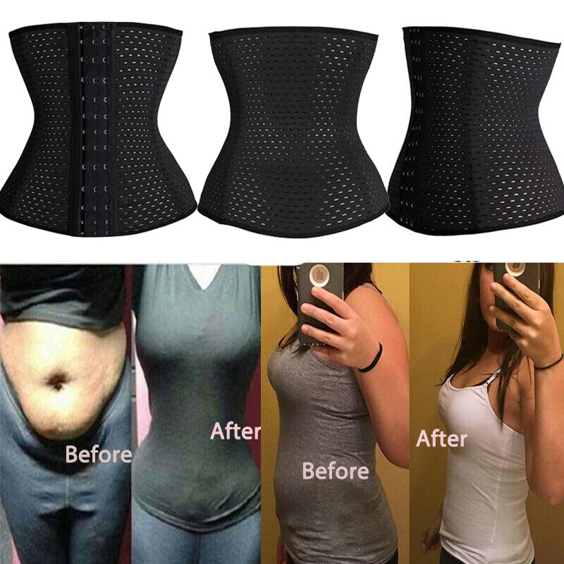 Plus Size XS-5XL Steel Boned Waist Trainer Belt