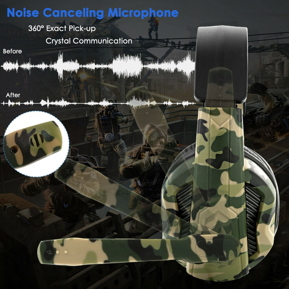 Wired Gaming Headset  with Mic Noise Cancelling Stereo Earphone