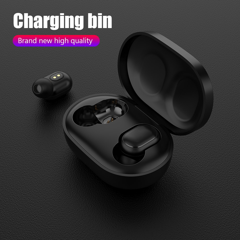 300mAh Bluetooth Wireless Earphones with Charging Case USB Cable