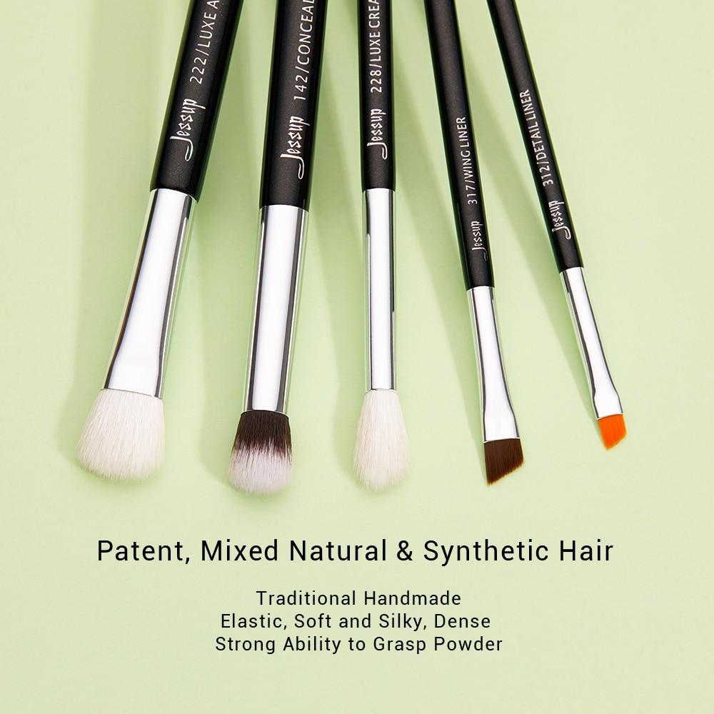 Make up Brushes Set 15pcs Black/Silver ( Natural-synthetic hair)