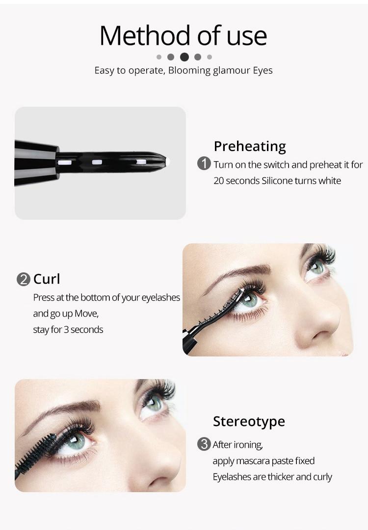 Mini Electric Heated Eyelash Curler