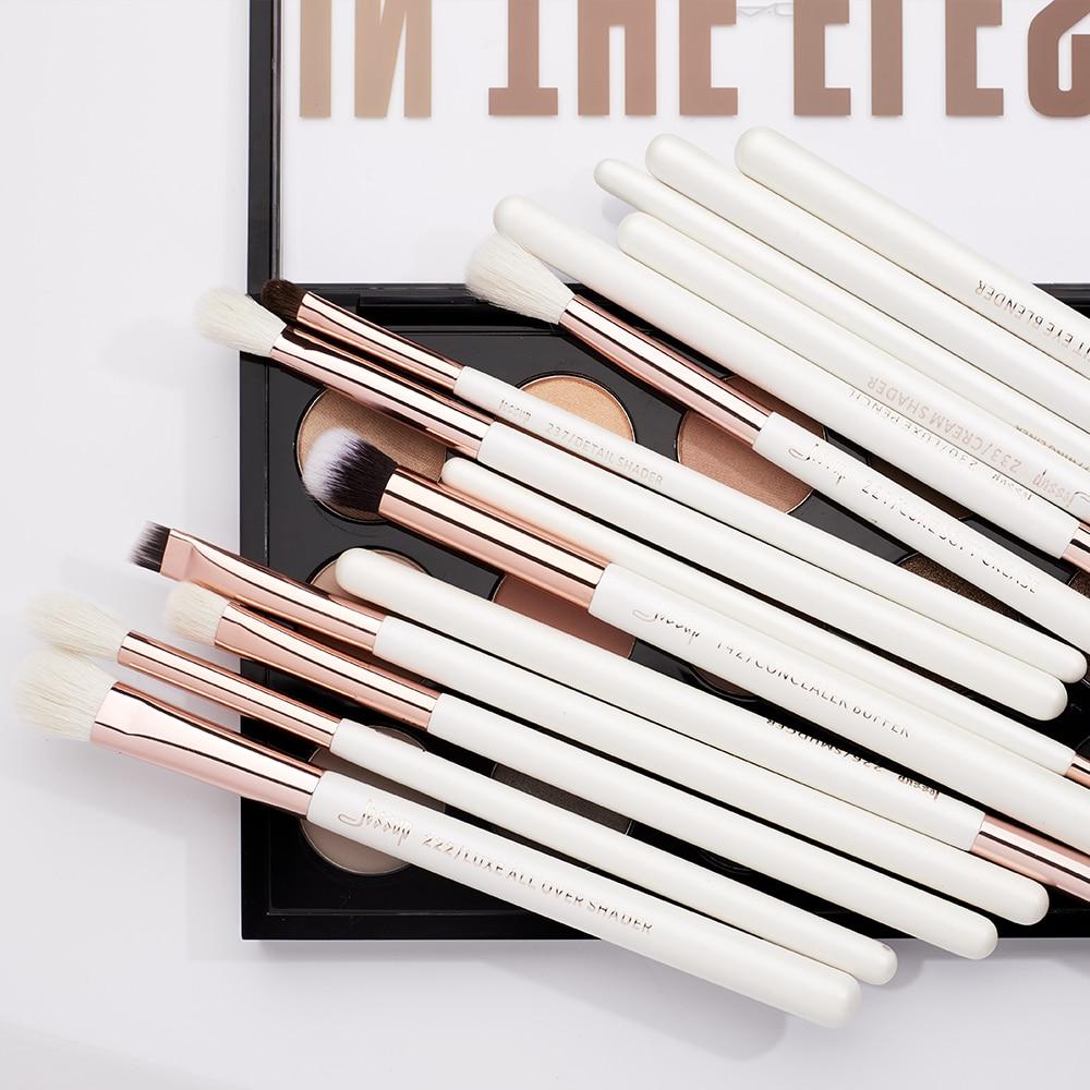 Professional Makeup Brushes Set 15pcs Pearl White/Rose Gold