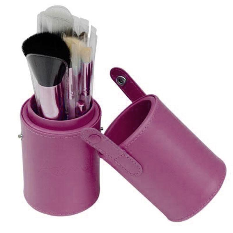 1Pc PU Leather Makeup Brushes Holder