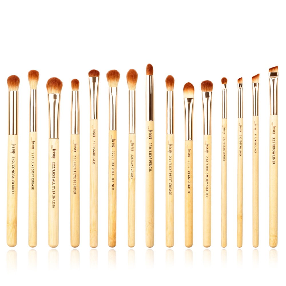 Jessup brushes 15pcs Bamboo makeup Brushes
